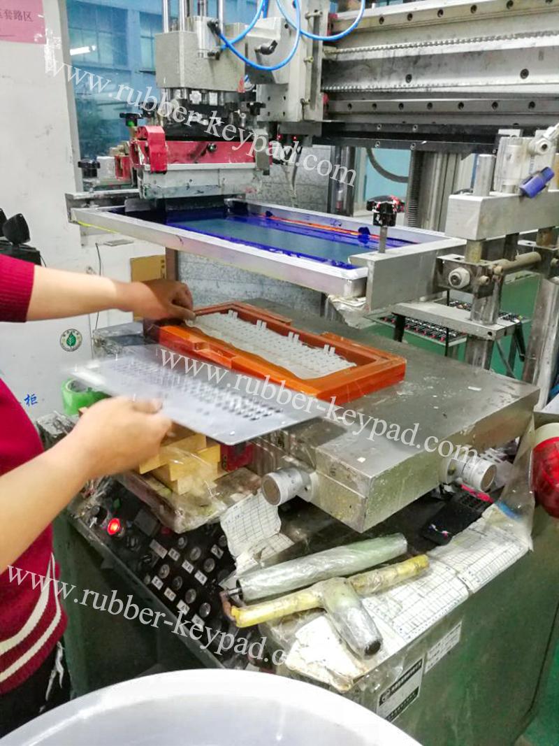 Herstellungsprozess der Siebdrucktastatur